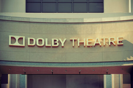 evolved: Los Angeles, CA - MAY 18: Hollywood Dolby Theatre interior on May 18, 2014 in Los Angeles. Started as a small community, it evolved into the home of world famous film industry