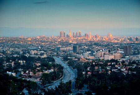 skyline: Los Angeles with urban buildings
