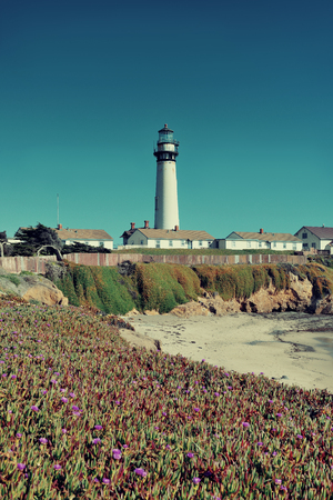 Pigeon Point lighthouse in Big Sur California. photo
