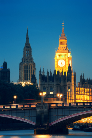 the palace of westminster: Westminster Palace and bridge over Thames River in London
