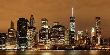 wtc: Manhattan Downtown architecture night view