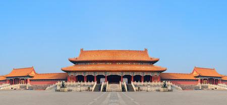 historical architecture: Historical architecture panorama in Forbidden City in Beijing, China. Editorial