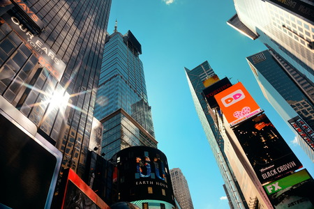 times square: NEW YORK CITY - SEP 5: Times Square street view on September 5, 2014 in Manhattan, New York City. Featured with Broadway Theaters and LED signs, it is a symbol of New York City and the United States,