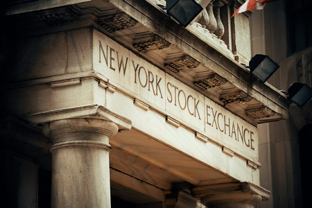 new economy: NEW YORK CITY - SEP 5: New York Stock Exchange closeup on September 5, 2014 in Manhattan, New York City. It is the worlds largest stock exchange by market capitalization of its listed companies. Editorial