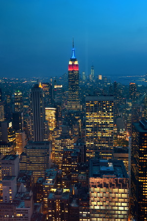 september 11: NEW YORK CITY, NY - SEP 11: Empire State Building with tribute on September 11, 2013 in New York City. It is a 102-story landmark and was worlds tallest building for more than 40 years.