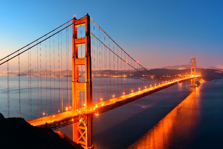 Golden Gate Bridge in San Francisco as the famous landmark.