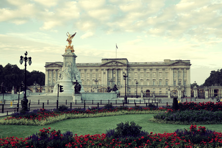 king palace: Buckingham Palace in the morning in London. Editorial