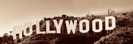 originated: Los Angeles, CA - MAY 18: Hollywood sign on mountain on May 18, 2014 in Los Angeles. Originated as a real estate promotion, it is now the famous landmark of LA and US. Editorial
