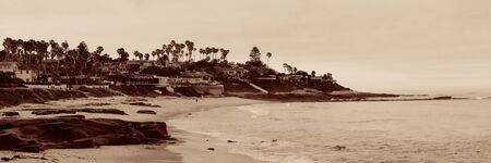 cove: La Jolla Cove beach at San Diego.