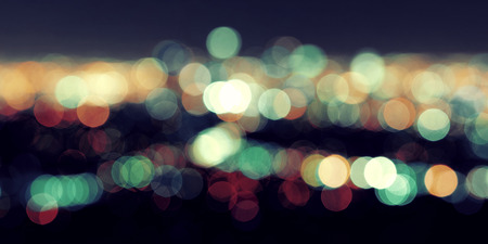 romatic: Los Angeles city night Bokeh Stock Photo