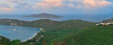 virgin islands: Virgin Islands St Thomas sunset with colors
