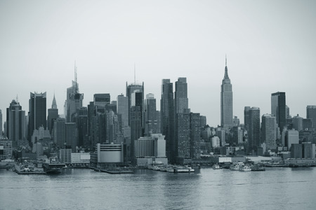 nyc: New York City Manhattan in black and white Stock Photo