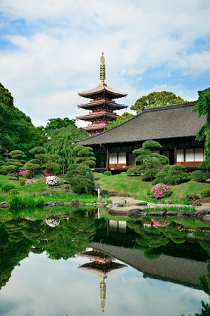 Garden in Sensoji Temple, Tokyo, Japan.