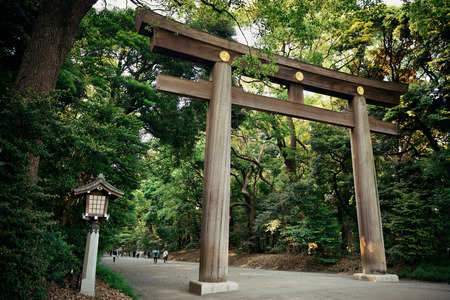 Portal of Meiji Jingu Shrine. Tokyo, Japan. Archivio Fotografico