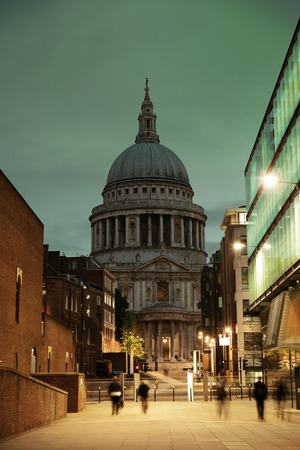 st pauls: St Pauls cathedral in London as the famous landmark. Stock Photo