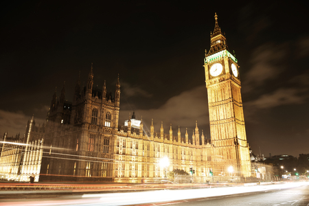 england big ben: House of Parliament at night, London. Editorial
