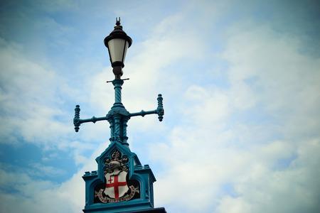 lamp post: Vintage lamp post in London Street. Stock Photo
