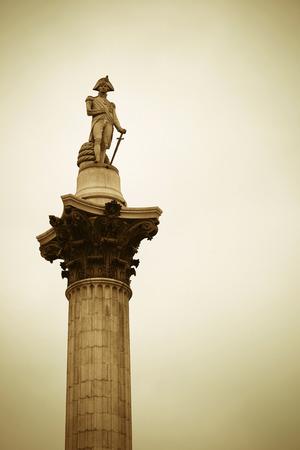 nelson: Nelson Column in Trafalgar Square in London