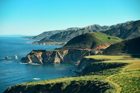 big scenery: Seascape in Big Sur in California.