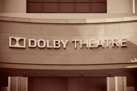 film industry: Los Angeles, CA - MAY 18: Hollywood Dolby Theatre interior on May 18, 2014 in Los Angeles. Started as a small community, it evolved into the home of world famous film industry
