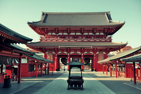 temple: Sensoji Temple in Tokyo Japan.