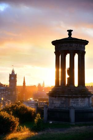 scott: Edinburgh city skyline viewed from Calton Hill. United Kingdom.