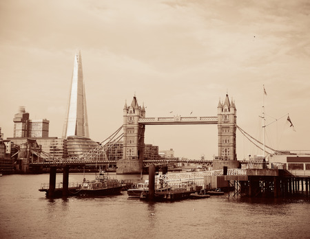 viewed: London cityscape viewed from Katharine Pier