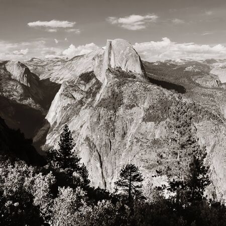 half dome: Half Dome BW in Yosemite National Park.