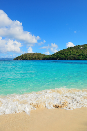 st  john: Colorful beach in St John, Virgin Island.