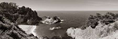 beach landscape: Seascape in Big Sur in California.