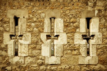 historical landmark: London Tower closeup as the famous historical landmark