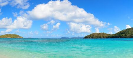 st  john: Colorful beach panorama in St John, Virgin Island.