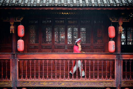 history building: Local Bai style architecture in Dali old town. Yunnan, China. Editorial