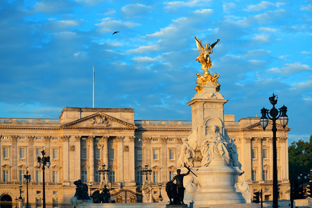 buckingham: Buckingham Palace and statue in the morning in London.