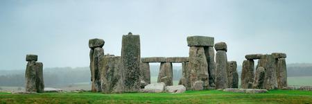 stonehenge: Stonehenge panorama with cloud near London as the National Heritage site of UK.