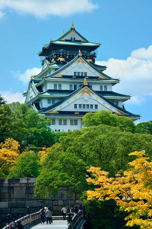 osaka castle: Osaka Castle as the famous historical landmark of the city. Japan.