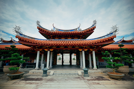 buddhism: Chinese Buddhism temple in Singapore Editorial