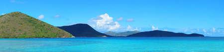 st john: Colorful beach panorama in St John, Virgin Island.