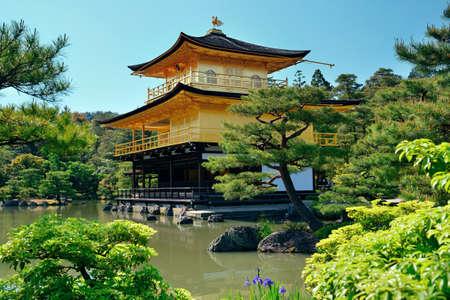 rokuonji: Kinkaku-ji temple with historical building in Kyoto, Japan.
