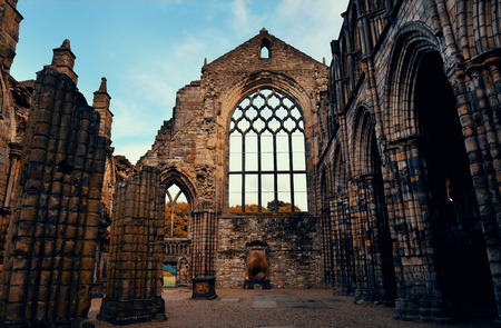 abbey: Holyrood Abbey in Edinburgh United Kingdom.