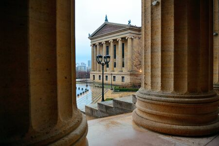 art museum: Philadelphia Art Museum as the famous city attractions. Stock Photo