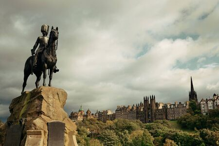 history architecture: The Royal Scots Greys Monument in Edinburgh.