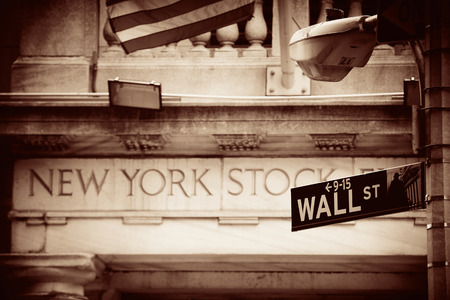 new york stock exchange: NEW YORK CITY - SEP 5: New York Stock Exchange closeup on September 5, 2014 in Manhattan, New York City. It is the worlds largest stock exchange by market capitalization of its listed companies. Editorial