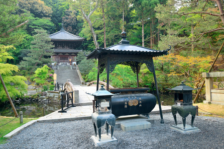 historical building: Shrine with historical building in Kyoto, Japan.