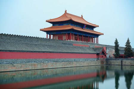 historical buildings: Ancient historical buildings in Imperial Palace in Beijing, China