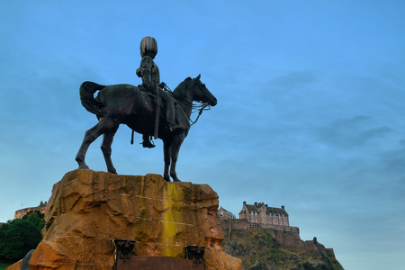 monument historical monument: The Royal Scots Greys Monument in Edinburgh.