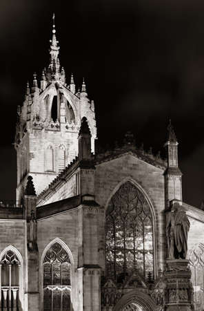 giles: St Giles Cathedral as the famous landmark of Edinburgh. United Kingdom.