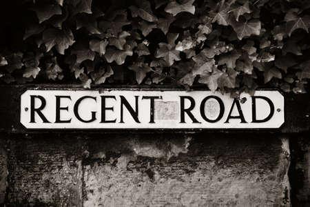 regent: Regent Road sign in Edinburgh.