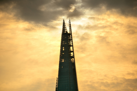 british english: LONDON, UK - SEP 27: The Shard and urban architecture on September 27, 2013 in London, UK. the Shard is currently the tallest building in the European Union Editorial
