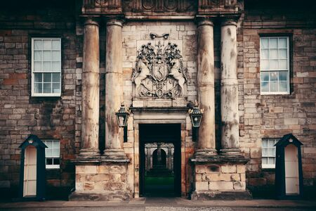 history architecture: Palace of Holyroodhouse in Edinburgh United Kingdom.